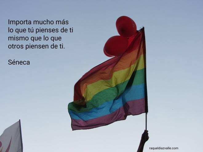 Bandera orgullo con frase